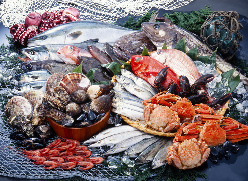seafood is rich in vitamin B12 and arginine