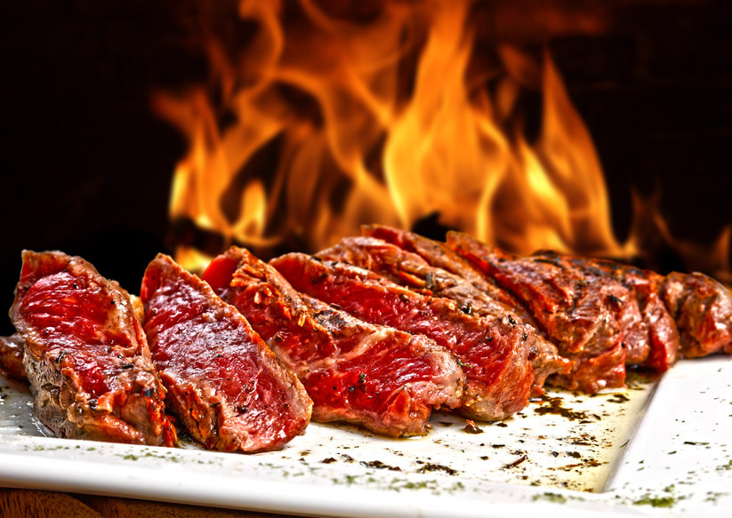 red meat includes large amounts of carnitine