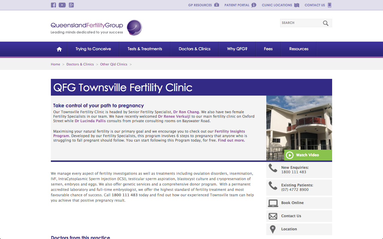QFG Fertility Clinic, Townsville, OLD, Queensland, Australia